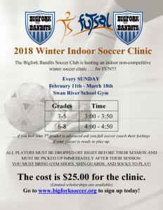 Winter Indoor Soccer Clinic