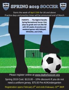 soccer 2019 flyer