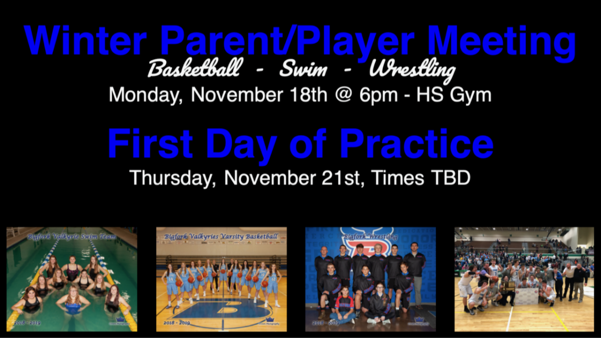 winter sports parent meeting with images of winter sport athletes